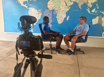 Academy Captain Gideon interviews former US national team captain, Claudio Reyna