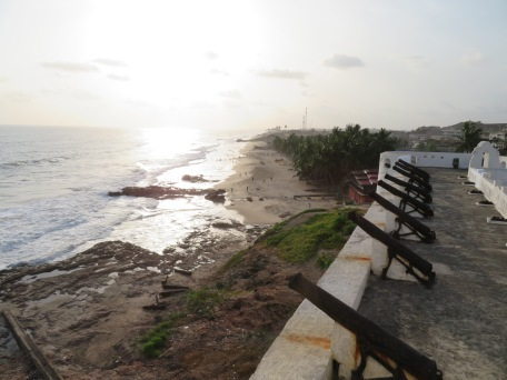 View from Slave Castle walls