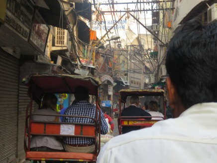 Rickshaw ride through Old Delhi