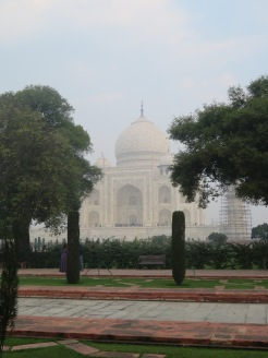 Looking toward the Taj